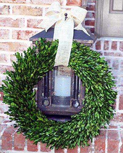 Cheap  Flora Decor Garden Variety Boxwood Wreath with Burlap Hanger -22