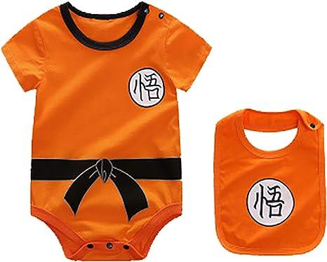 Goku Cosplay 0-24 Meses AKB Ropa de Bebe Recien Nacido Body Dragon Ball