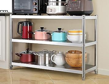 Wssf scaffali per cucina scaffali di stoccaggio in acciaio inox in