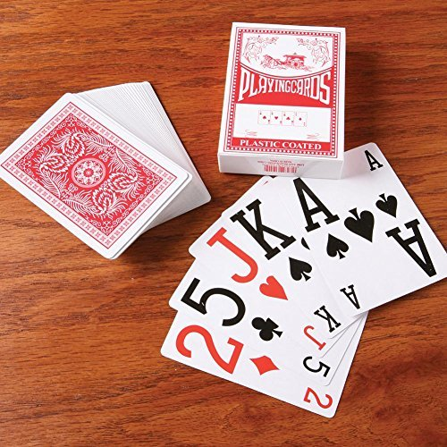 EASY READ PLAYING CARDS SET OF 3