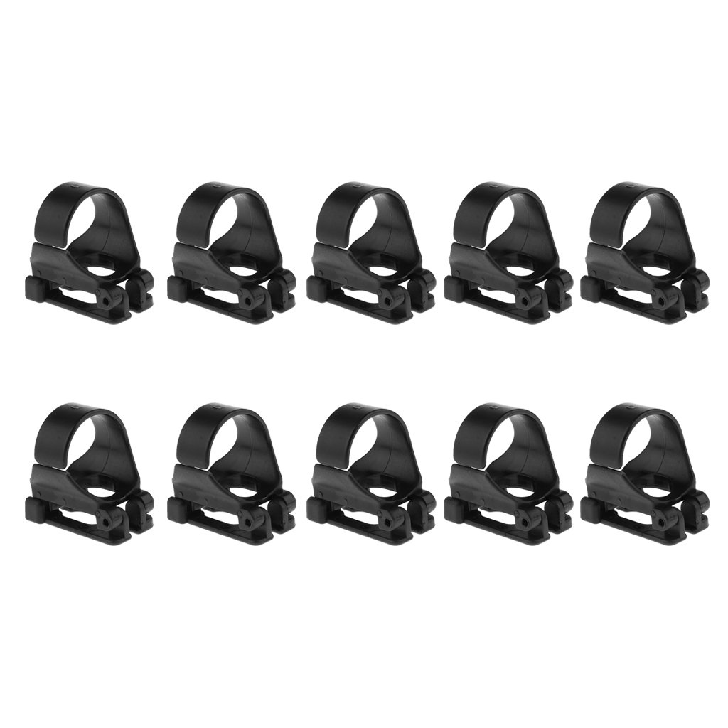 MonkeyJack 10 Pieces Universal Plastic Clip Snorkel Mask Keeper Holder Retainer For Scuba Diving and Snorkeling