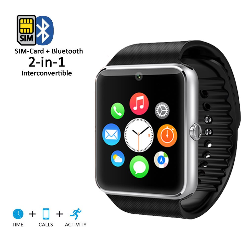 Amazon.com: inDigi Cool OLED Display Bluetooth Smart Leather ...