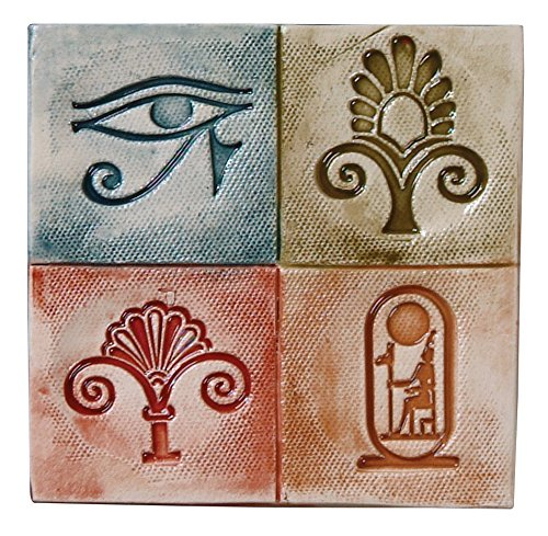 Mayco Egyptian Design Press Tool Set, 1-3/4 in Dia, Set of 4