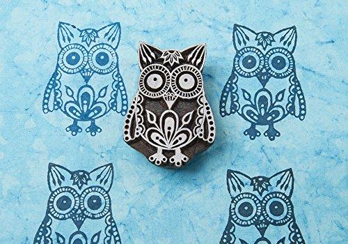 Blockwallah Exotic Owl Wooden Block Stamp