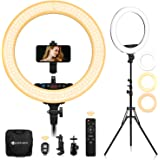 Yesker Advanced 18-inch LED Ringlight Support Manual Touch Control Screen, Wireless Remote Controller 3200-5500K, Ring Light