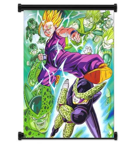 Gohan vs Cell Fabric Wall Scroll Poster (16x21) Inches. [WP]DragonBallZ-47 (Dragon Ball Z Gohan Vs Cell)