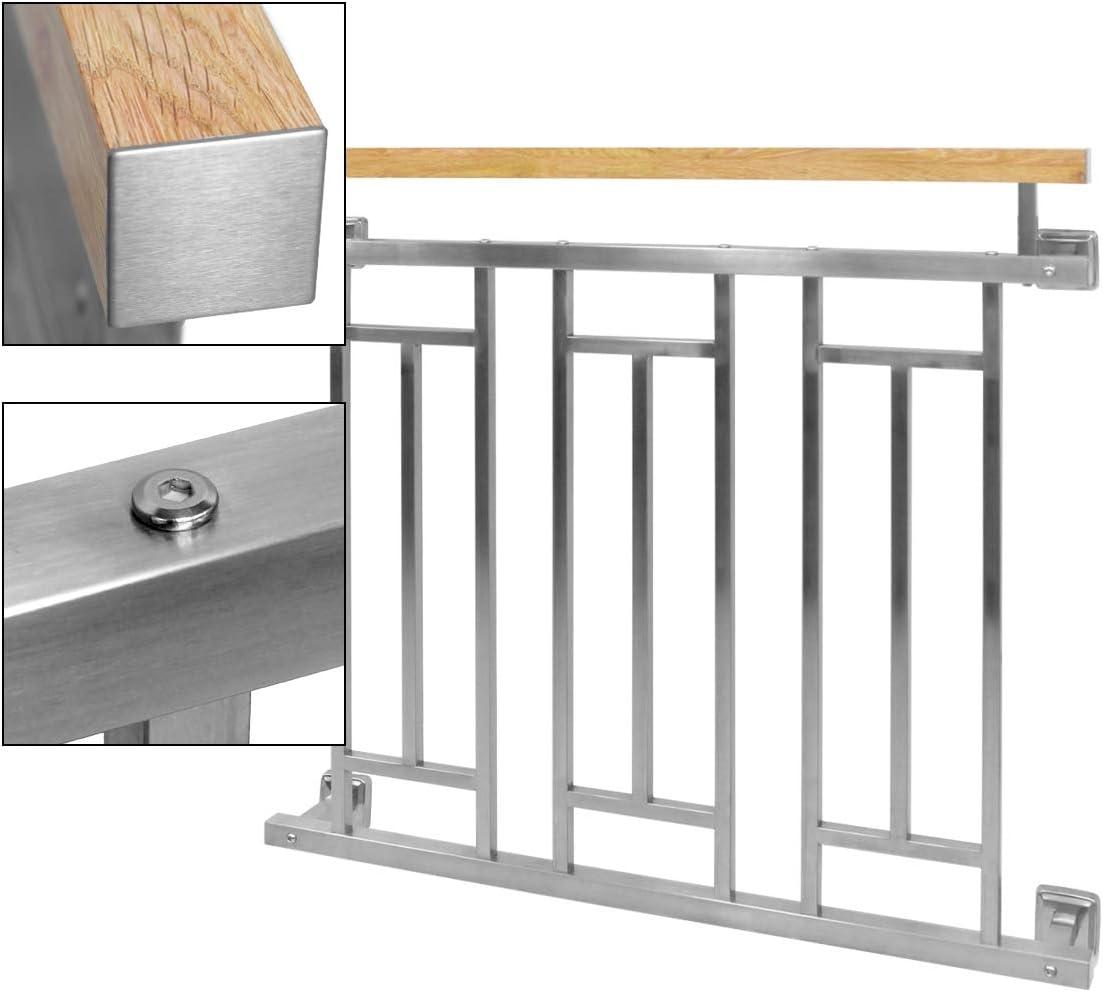 Ringhiere acciaio balcone balaustre griglia antracite argento da 90x100 a 225cm