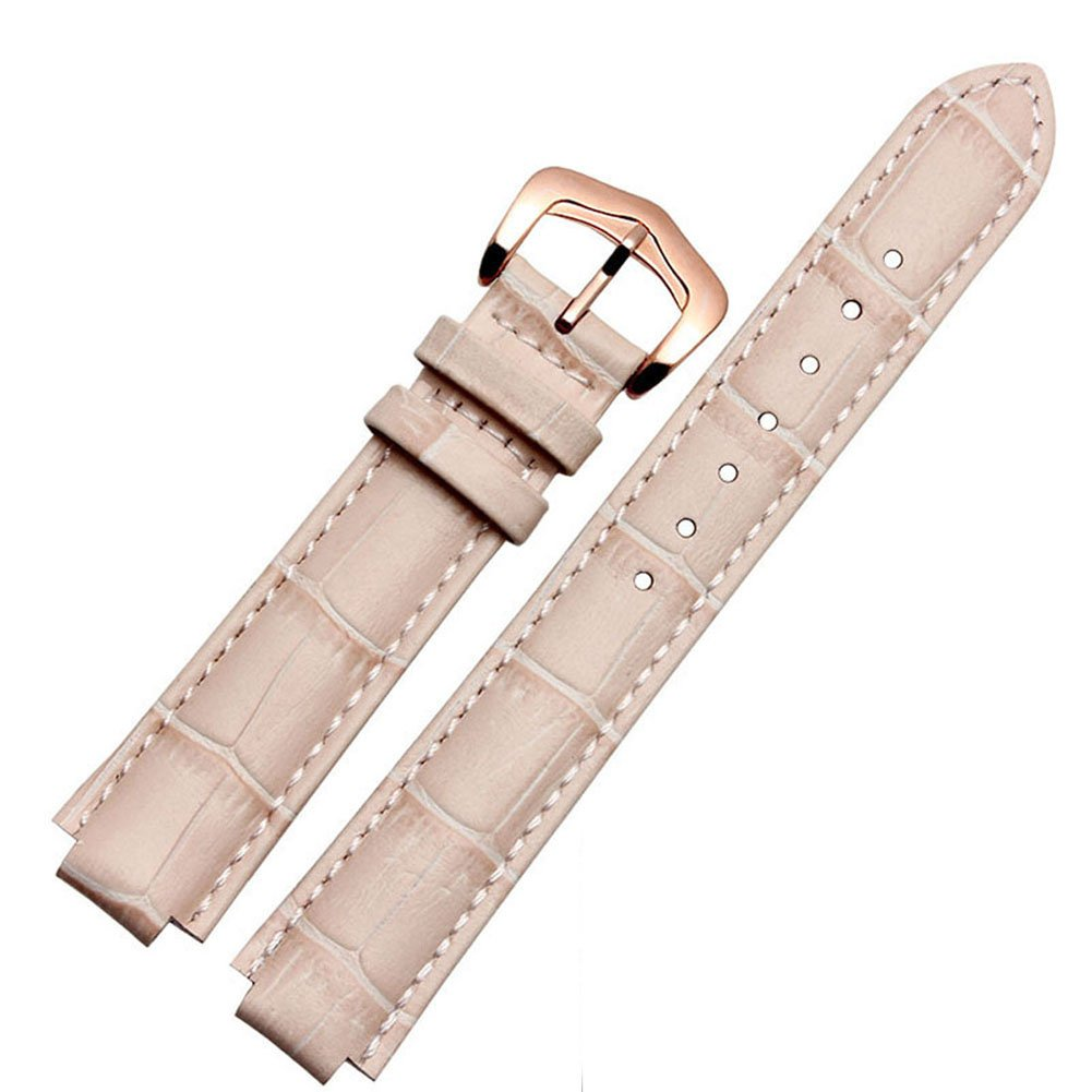 MSTRE NP85 18mm/20mm Unisex Calfskin Leather Watch Band Suitable For Cartier Blue Ballon Watches (18mm, rpink)