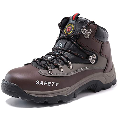 3b177e7337e SUADEX Winter Safety Work Boots, Waterproof Steel Toe Cap Fur Lined Shoes,  Industrial and Construction Hiking Sneakers