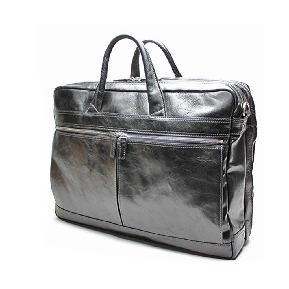 ビジネスバッグ メンズ ブリーフケース 本革 A3サイズ対応 大容量 出張 通勤 牛革 アーバン A3 ワイドダブル 海老名鞄 B01917XXLUブラック