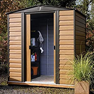 Metal Shed 6x5 With Base Brown