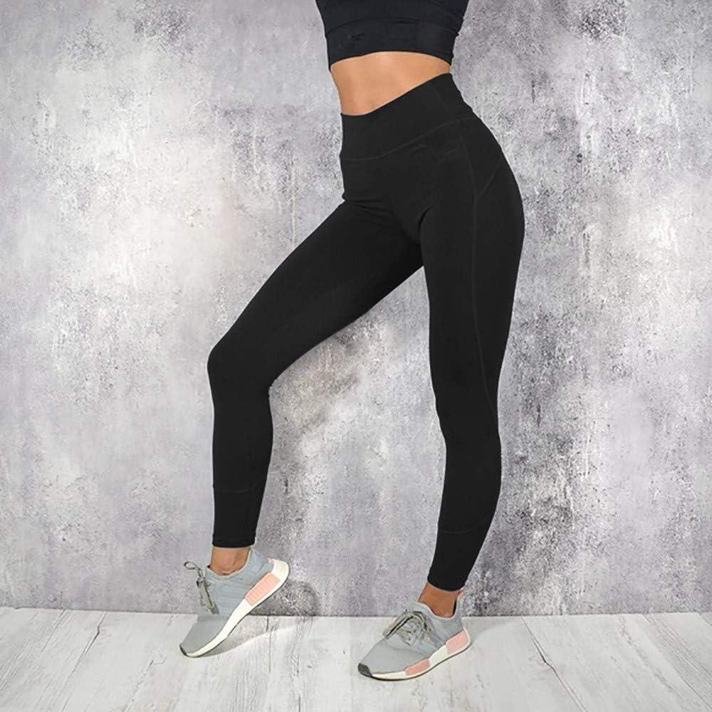 Fashion Solid Workout Leggings Full Length Soft Pants Gergeos Yoga Pants for Women