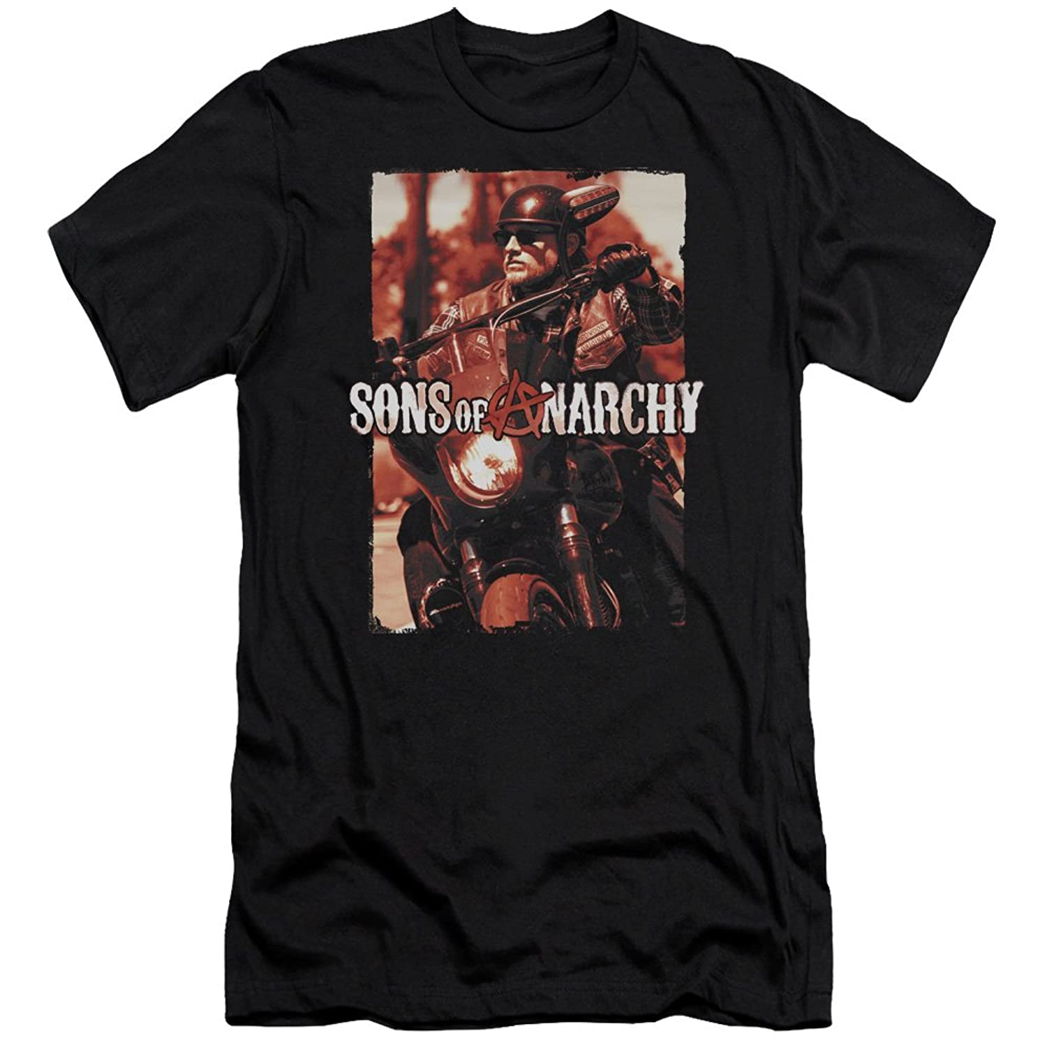 Sons of Anarchy TV Show Jax Riding Adult Slim Fit T-Shirt Tee