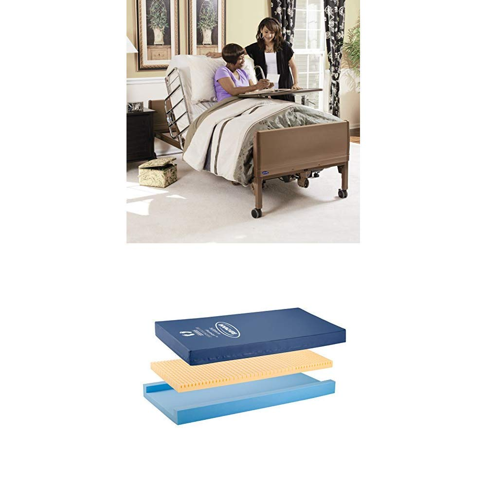 Invacare Full Electric Homecare Bed with Softform Premier Mattress (Bundle Includes 5410IVC + IPM1080)