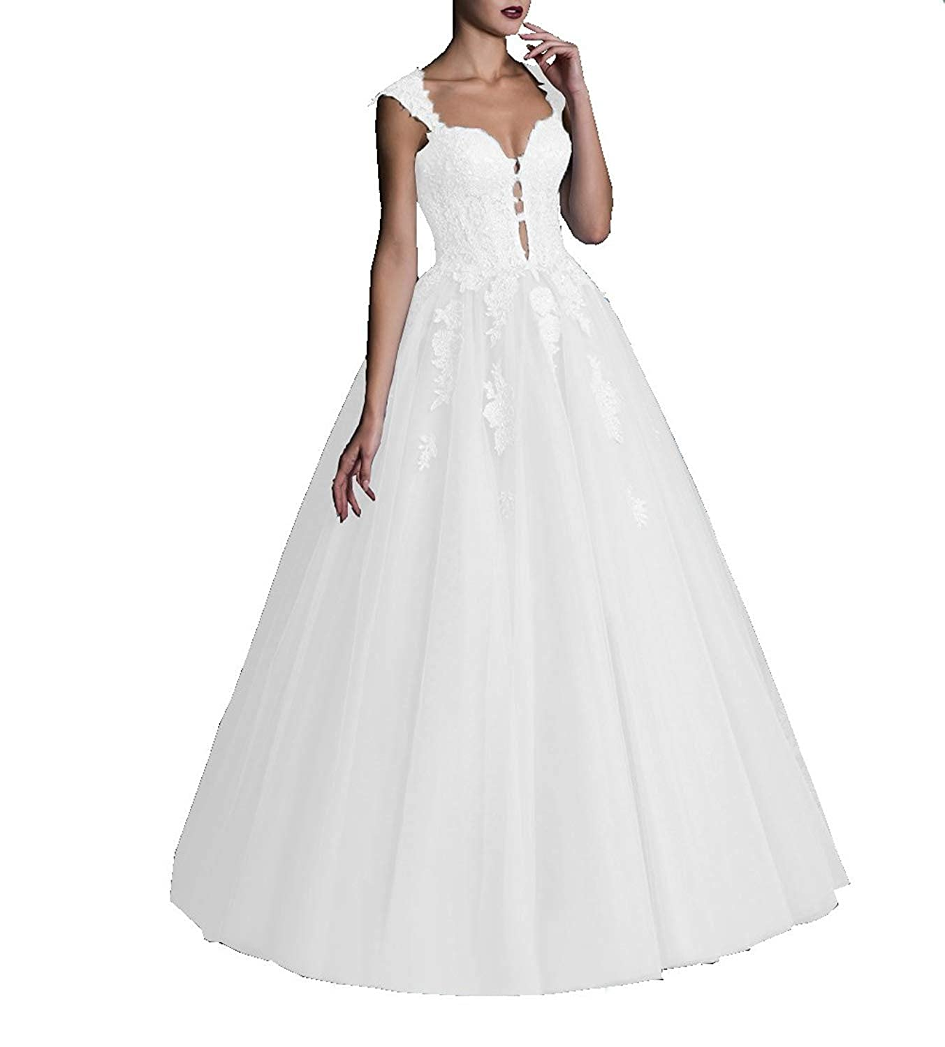 20KyleBird A-line Sweetheart Lace Appliques Tulle Quinceanera Dresses Prom Evening Ball Gowns for Women Formal