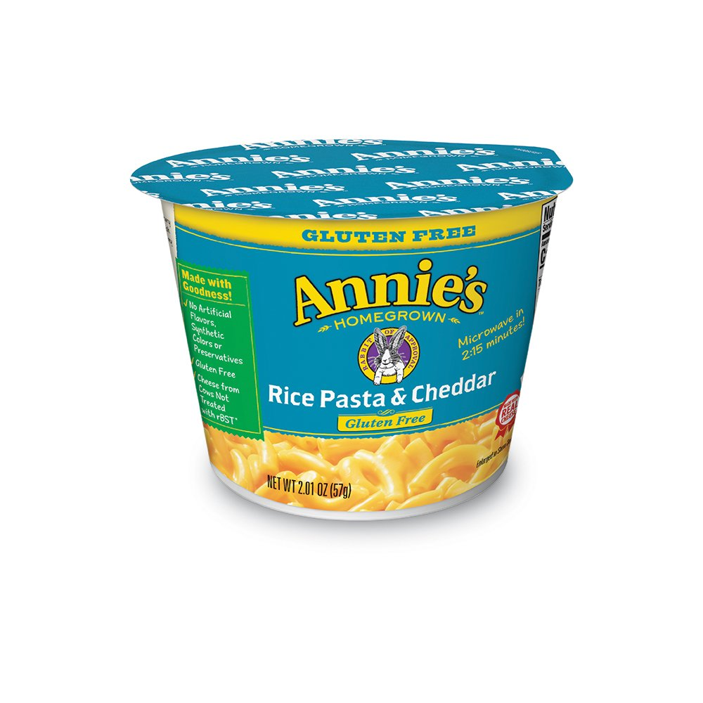 Annie's Gluten-Free Rice Pasta & Cheddar Microcup Macaroni & Cheese 2.01 oz. Cup by Annie's Homegrown