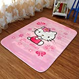 Sport do Cartoon Anti-Skidding Coral Fleece Hello Kitty Thicken Carpet,Comfortable Kids Playing/Crawling Mat,Living Room/Bedroom Area Rugs,Soft Yoga Carpet,Pink,39″55″ Review