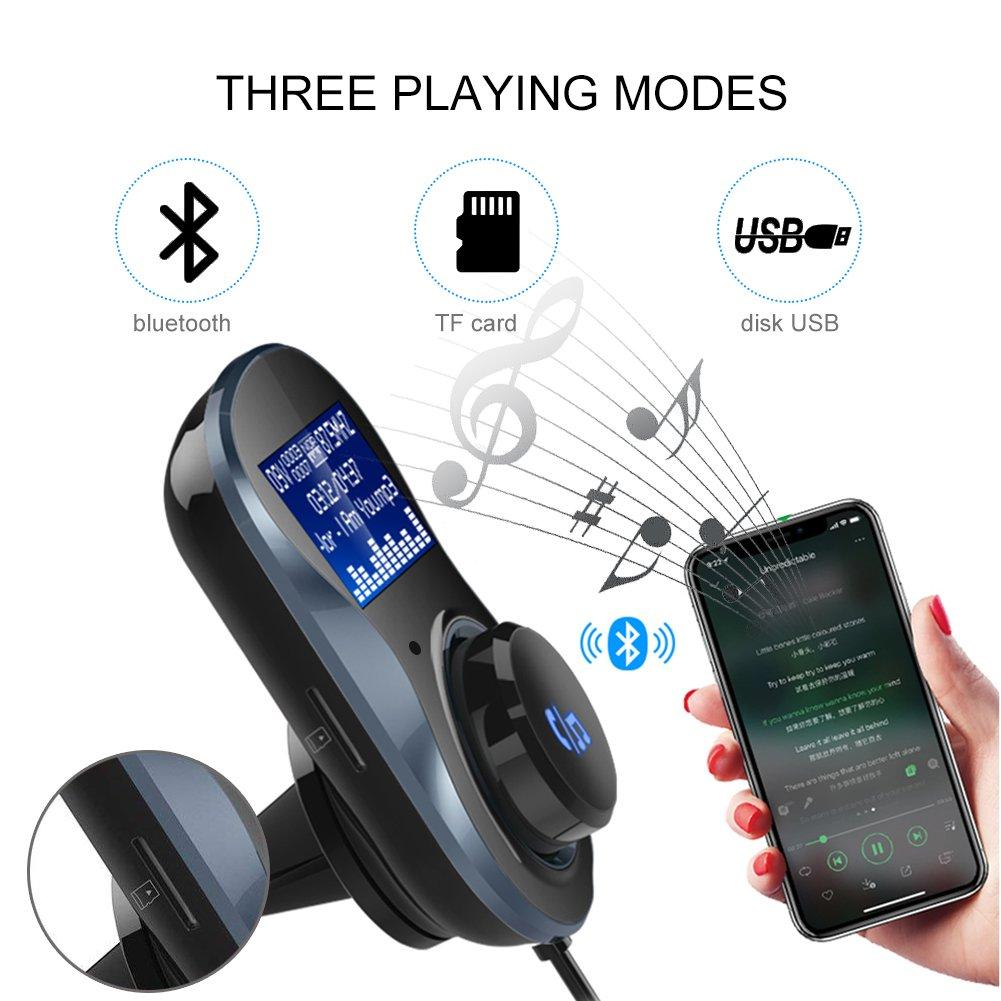 TCOCHE Chargeur de Batterie pour Plomb-Acide Batteries Gel AGM Motos etc 3.4A 12V // 6V 5A Portable Chargeur de Batterie Voiture avec Batterie 3 Step Charge Flottante Recharge pour Voitures