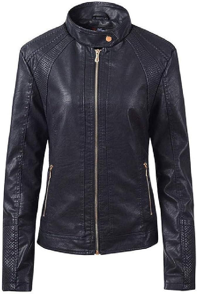 NOBRAND Otoño Mujer Negro Slim Cool Lady Chaquetas de Cuero Sweet Female Zipper Outwear Coat Plus Size Short Chaquetas