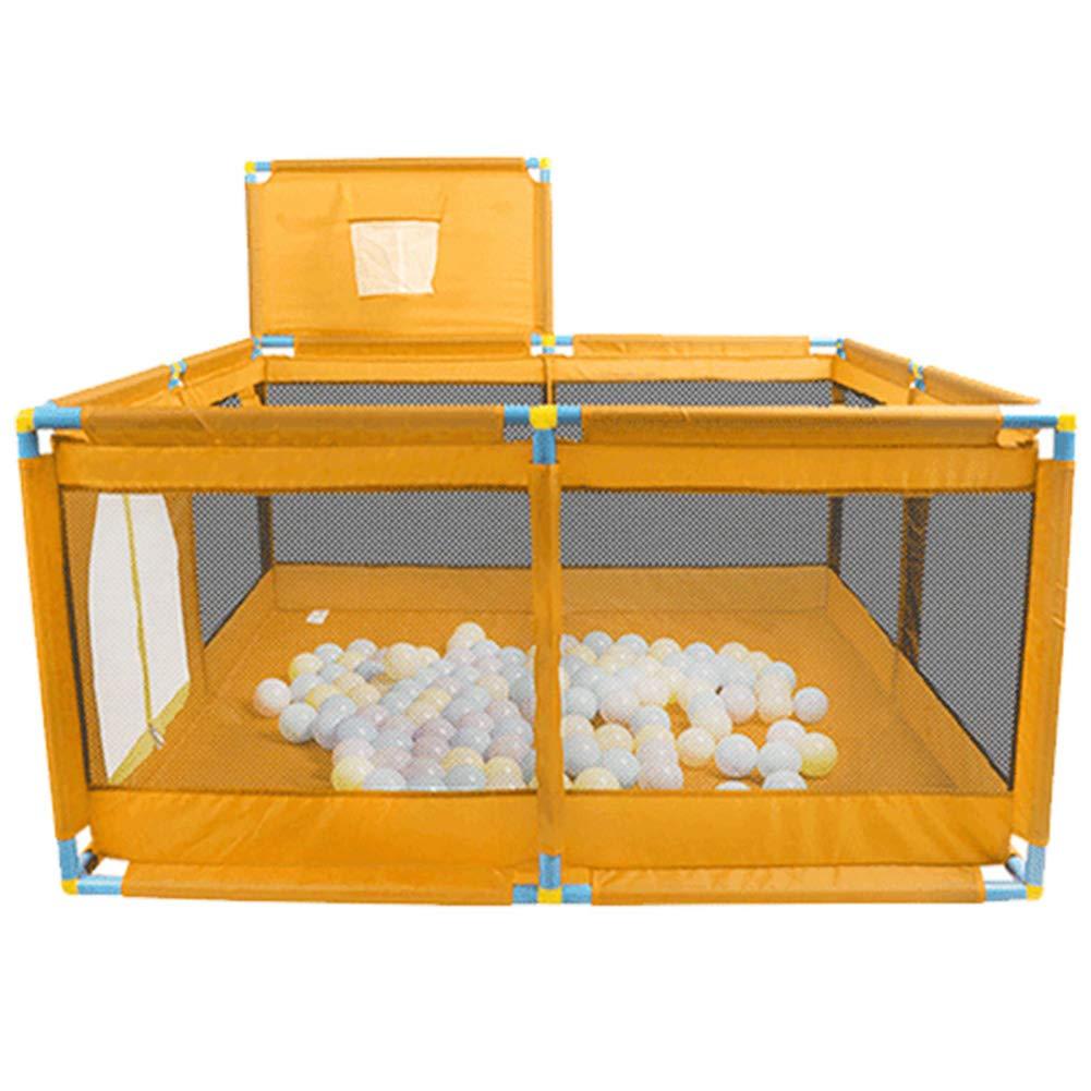 赤ちゃんの屋内のPlaypens子供の保護ゲームフェンス幼児のボールプールのおもちゃの家200海洋ボール、128 * 128 * 66センチメートル、グリーンオレンジ (色 : Orange, サイズ さいず : Style 2) Style 2 Orange B07HG1NQ5M