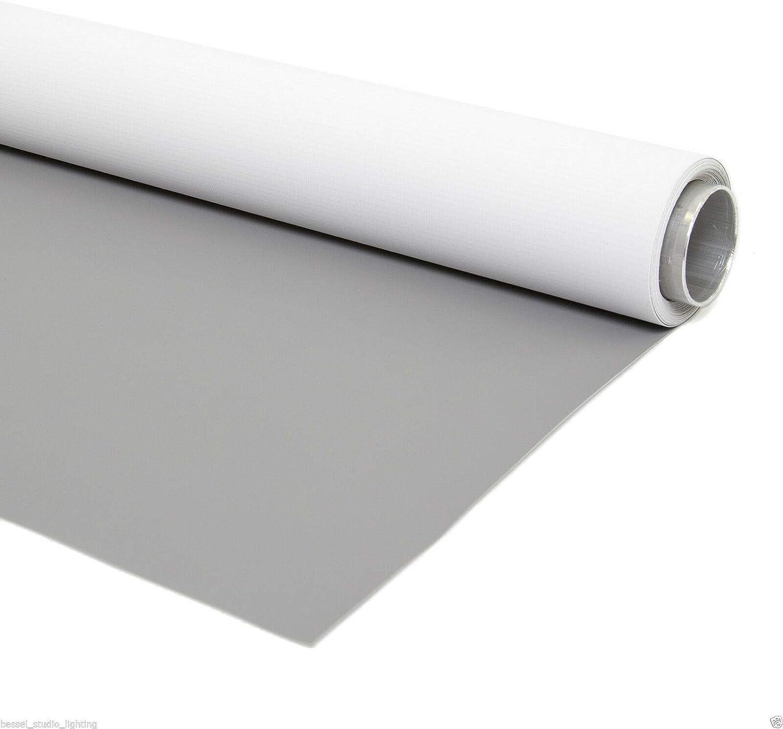 Vinylhintergrund Doppelseite Grau Weiß 300x300cm Kamera