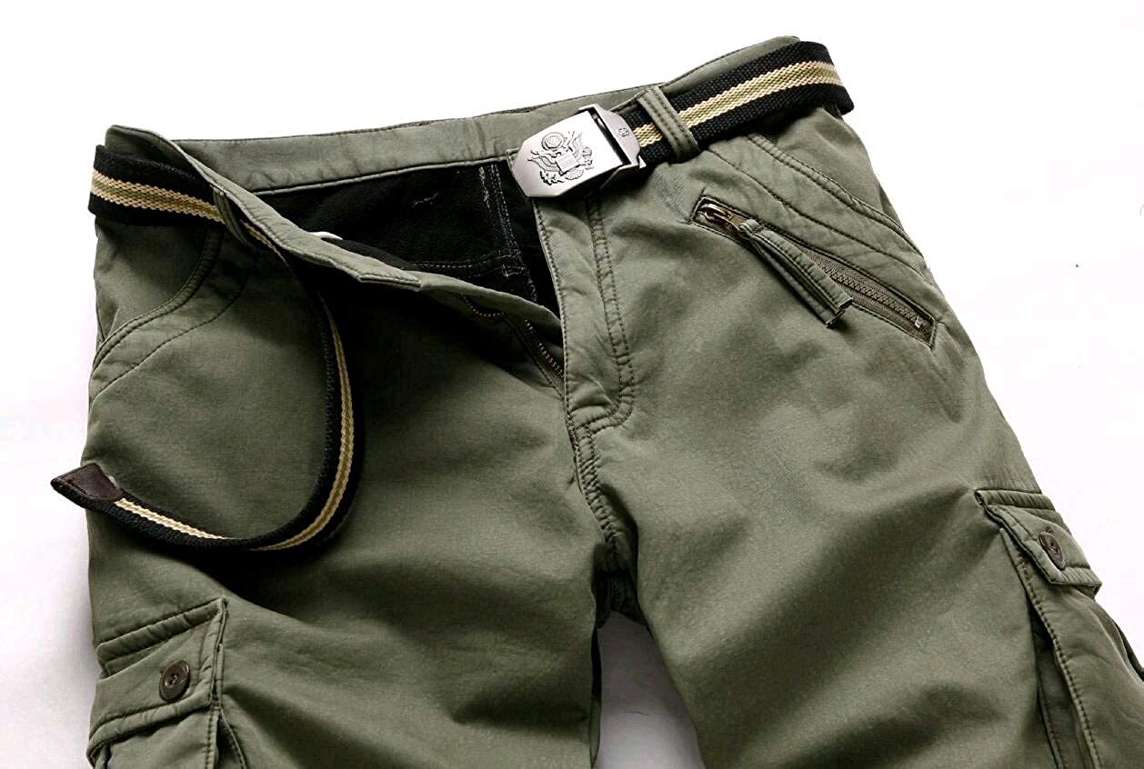 AngelSpace Mens Classic Army Outdoor Warm Oversize Trousers Cargo Pants