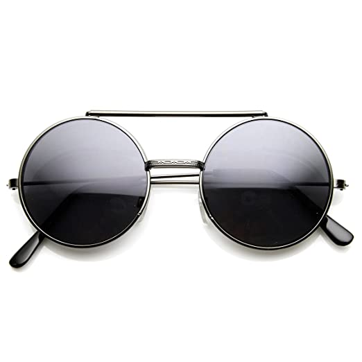 a05c85159a2 Image Unavailable. Image not available for. Color  Limited Edition Color  Flip-Up Lens Round Circle Django Sunglasses ...