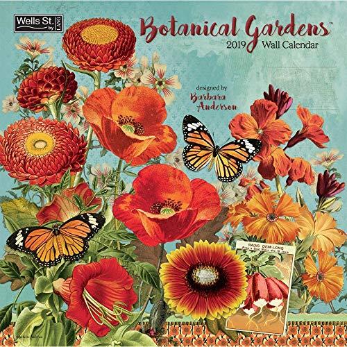 Garden Folk Art - Botanical Gardens Art 2019 Wall Calendar, More Folk Art by Lang Companies