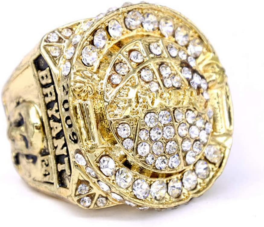 Nba For 2010 Los Angeles Lakers Championship Ring Replica 9 12 Full Size Fan Souvenirs Basketball Movement Ring With Wooden Box 12 Amazon Co Uk Sports Outdoors