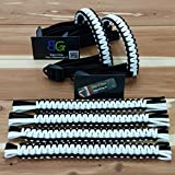 Reversible Paracord Jeep Wrangler Grab Handles - Black & White - Pick your pairs