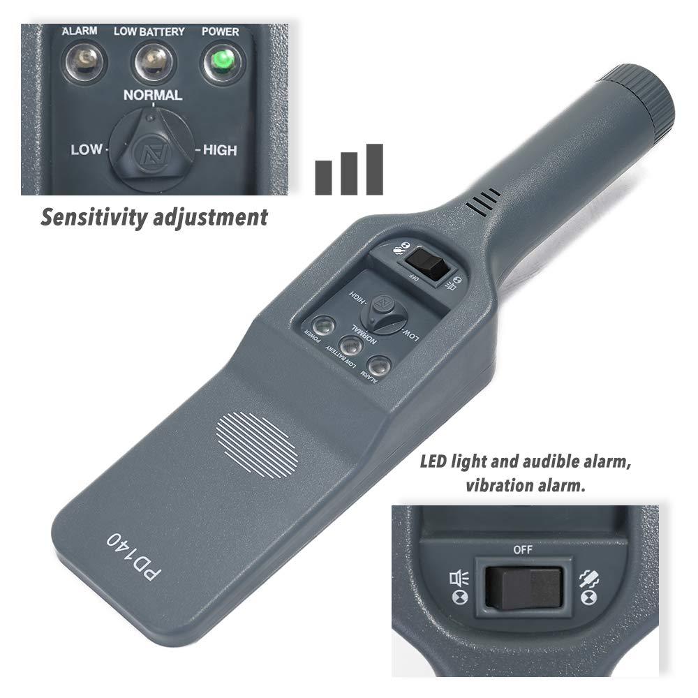 rendimiento estable con alertas de vibraci/ón de sonido para la estaci/ón de metro Control de seguridad aeropuerto esc/áner de alta seguridad port/átil de alta sensibilidad Detector de metales de mano