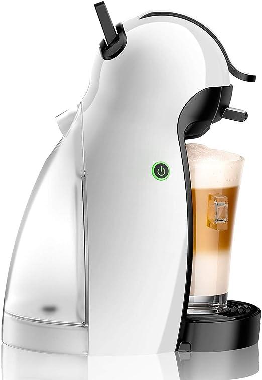 DeLonghi Piccolo EDG100.W Independiente Máquina de café en cápsulas 0,6 L Semi-automática - Cafetera (Independiente, Máquina de café en cápsulas, 0,6 L, Cápsula de café, 1460 W, Blanco): Amazon.es: Hogar