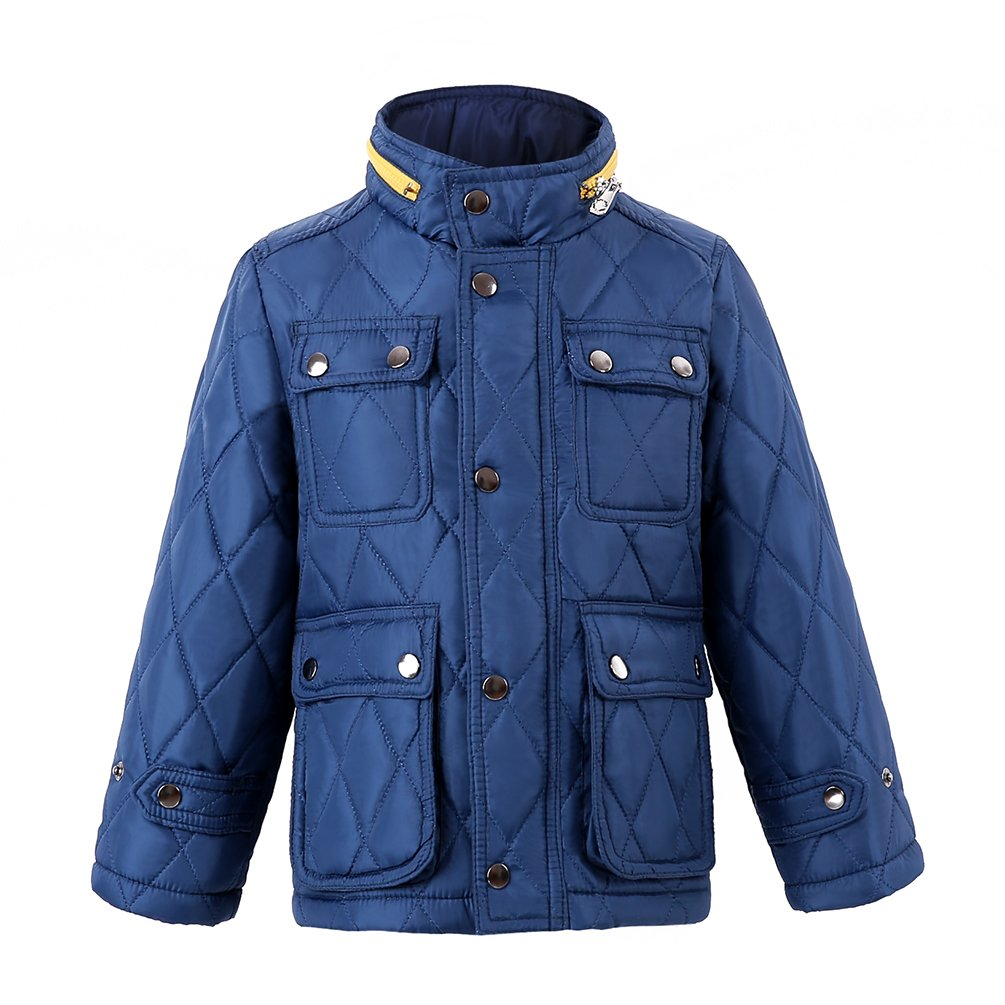 Hiheart Boys Quilted Padding Jacket Hooded Outdoor Puffy Coat