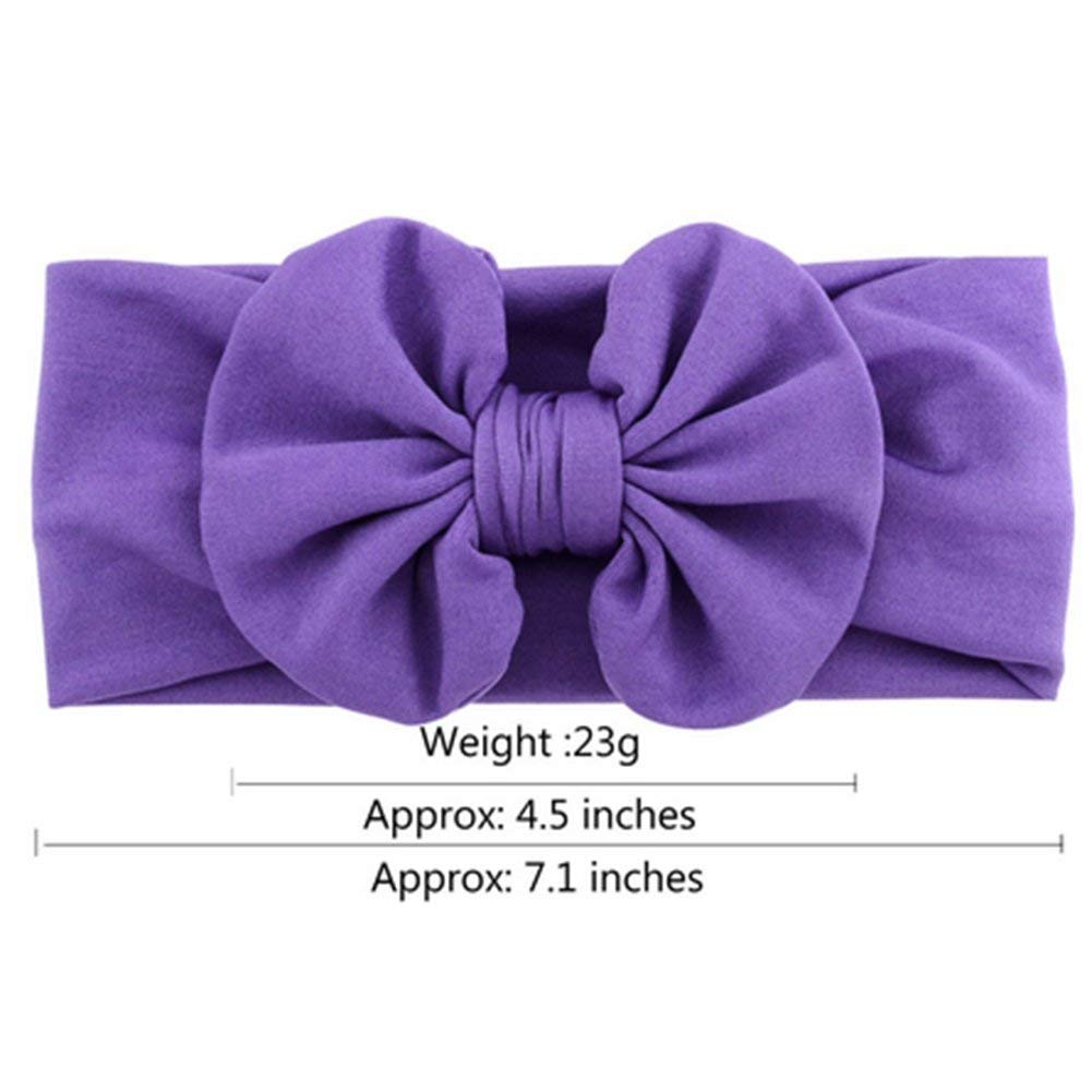 12 Pcs Baby Girls Headbands Elastic Headwrap Hair Bowknot Accessories Band for Infants Toddlers