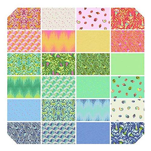 Tula Pink Rainbow Waves Quilt Kit Featuring Tula Pink Zuma Fabric
