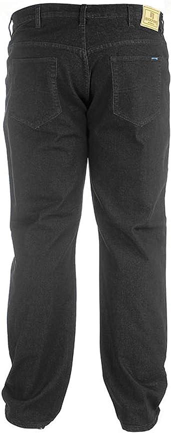D555 Rockford Herren Komfort Groß Hoch King-Size Freizeit Jeans Hose