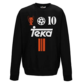 KiarenzaFD Sudadera Cuello Redondo Fútbol Vintage Luis Madrid Figo 10 Temporada 01 – 02 Champion 2