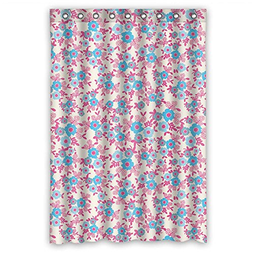 Price comparison product image PLATIM Width X Height / 48 X 72 Inches / W H 120 By 180 Cm Polyester Flower Bath Curtains Fabric Is Fit For Couples Wife Relatives Mother Gf. Mildew Resistant