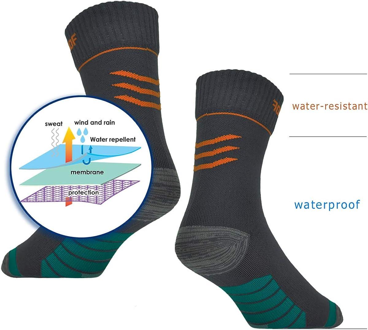 SANASAI Bamboo Waterproof Breathable Hiking-Socks for Men /& Women 1 Pair