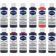 AmeriColor 12 Color Variety - Kit, Soft Gel Paste Food Coloring, 4.5 Ounce Bottles.