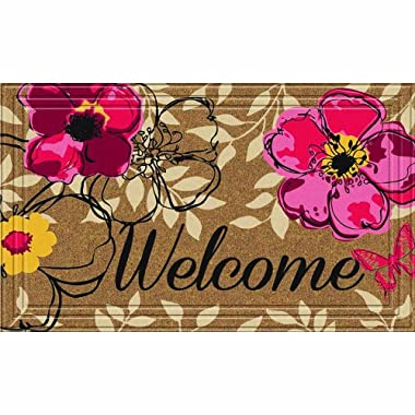 Apache Mills 60-797-1856 Naturelles Floral Paradise Door Mat, 18-Inch by 30-Inch