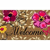 Naturelles Floral Paradise Door Mat, 18-Inch by 30-Inch