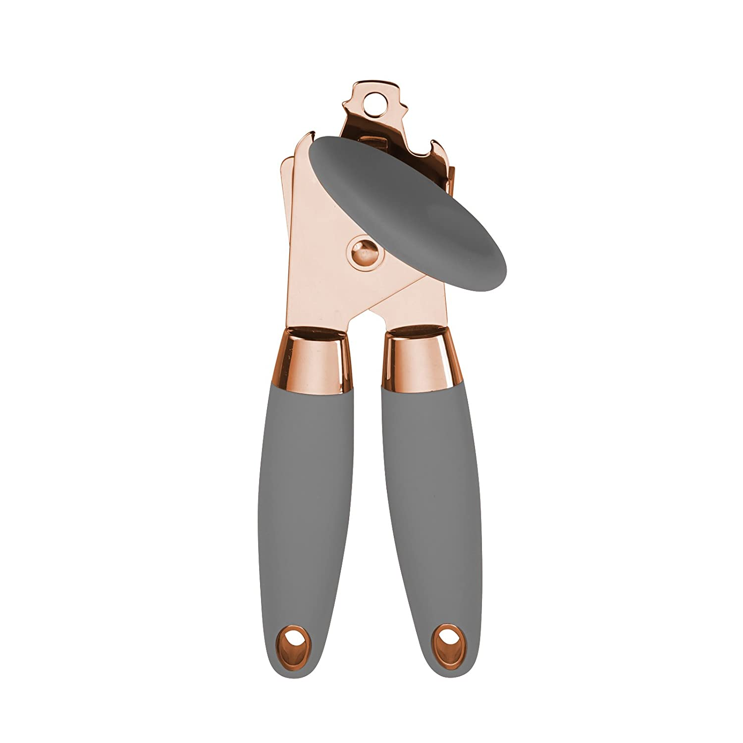 COOK with COLOR Manual Rose Gold and Black Can Opener with Large Knob and Bottle Cap Opener… Enchante Direct