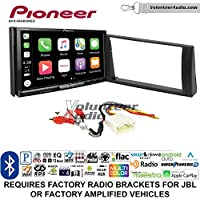 Volunteer Audio Pioneer AVH-W4400NEX Double Din Radio Install Kit with Wireless Apple CarPlay, Android Auto, Bluetooth Fits 2002-2006 Toyota Camry with Amplified System