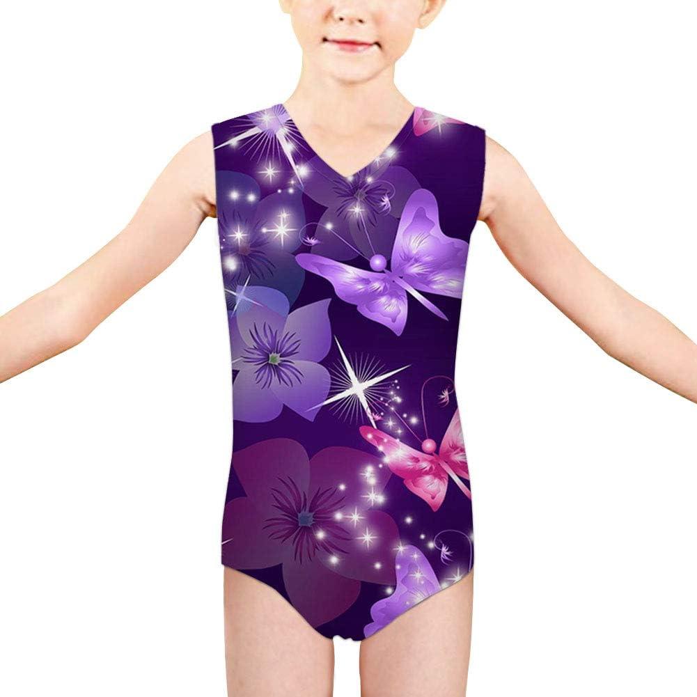 FUIBENG Elegant Print Girls One Piece Swimwear Rash Guard Strapless Swimsuits Bathing Suit for 3-14 Years