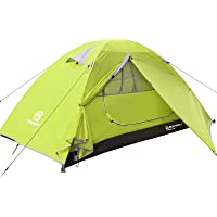 Bessport Camping Tent Lightweight Backpacking 1-4 Person Tent Waterproof Two Doors Easy Setup Tent for Outdoor, Hiking…