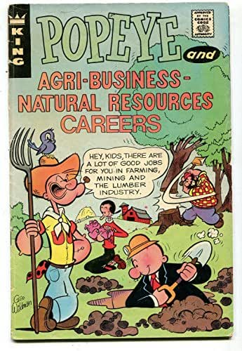 Popeye And Argi-Business-Natural Resources Careers E15 VG/FN King Comics CBX19