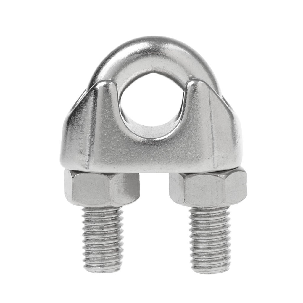 Stahlseil Klemmen Seilklemmen Gute Verarbeitung Gewinde und Muttern stark und stabil Hardware MagiDeal Edelstahl Drahtseilklemme M12