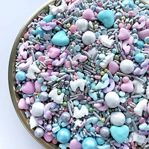 Sprinkles | Unicorn Dreams Sprinkle Mix | Confetti Sprinkles | Cake Sprinkles | Metallic Sprinkles | Sprinkle Mixes | Rainbow Sprinkles (7 ounce bag)