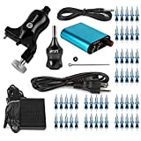 Hommii Professional Rotary Tattoo Machine Kit Gun Stroke Length 3.5mm,7-10V For Liner and Shader Machine + Power Supply and Foot Pedal + 50 pcs. Sterile Disposable Tattoo Needles 1,3,5,7,9 RL